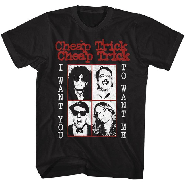 Cheap Trick Want You To Want Me Black Adult T-Shirt