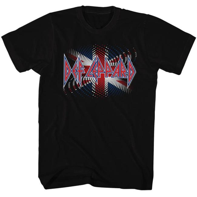 Def Leppard British Black Adult T-Shirt