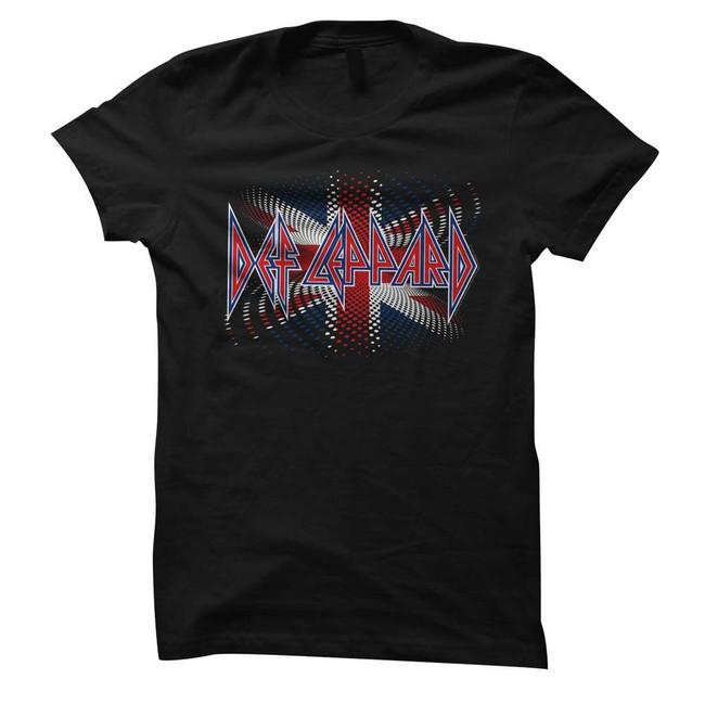 Def Leppard British Black Junior Women's T-Shirt