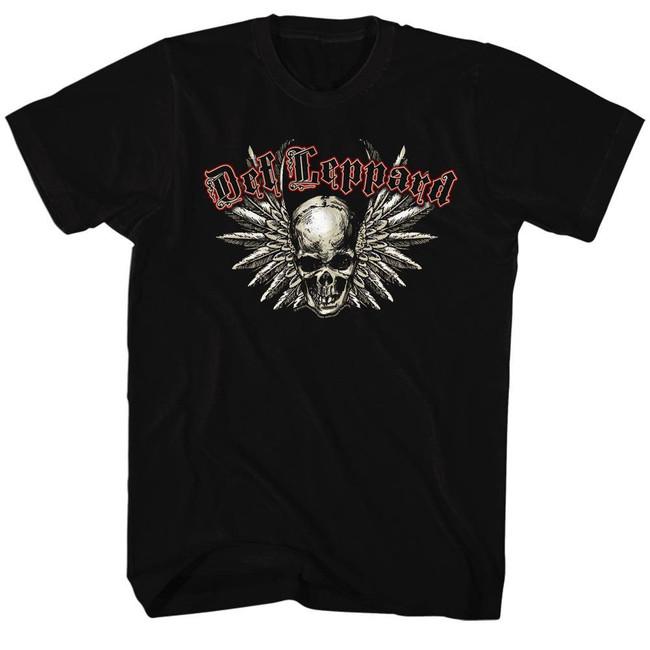 Def Leppard Black Adult T-Shirt