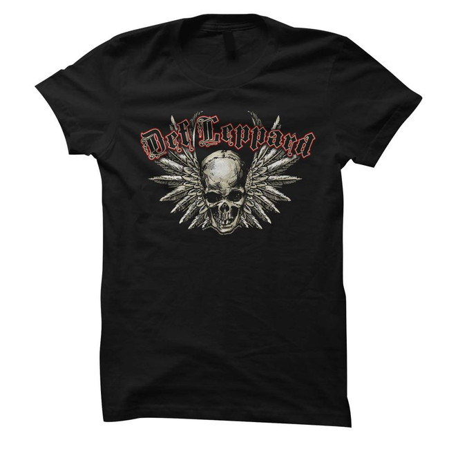 Def Leppard Black Junior Women's T-Shirt
