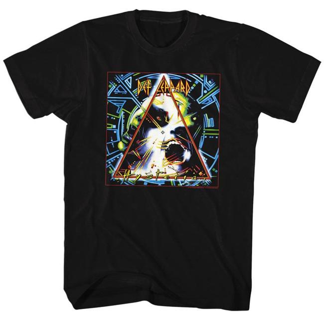 Def Leppard Hysteria Black Adult T-Shirt