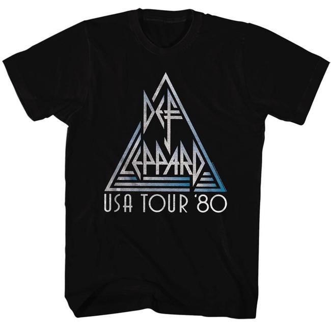Def Leppard USA Black Adult T-Shirt