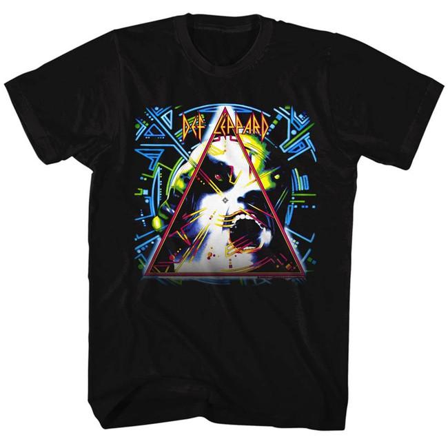 Def Leppard Hysteria Logo Black Adult T-Shirt