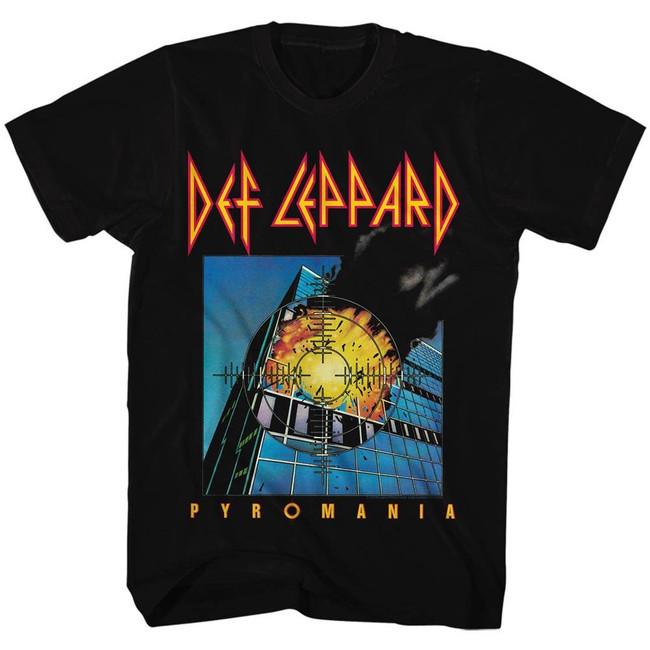 Def Leppard Pyromania Boxed Black Adult T-Shirt