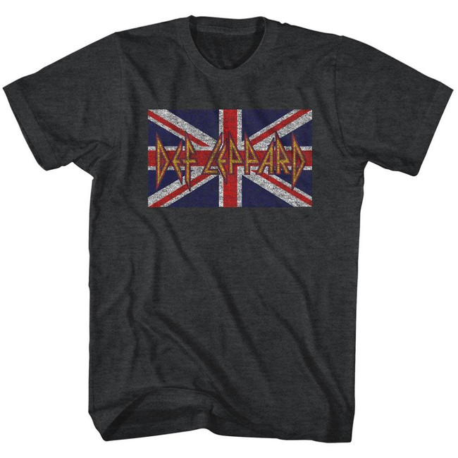 Def Leppard Flag Heather Adult T-Shirt