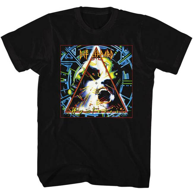 Def Leppard Hysteria Boxed Black Adult T-Shirt