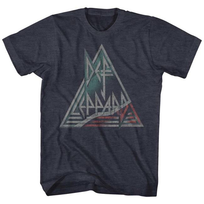 Def Leppard Navy Heather Adult T-Shirt