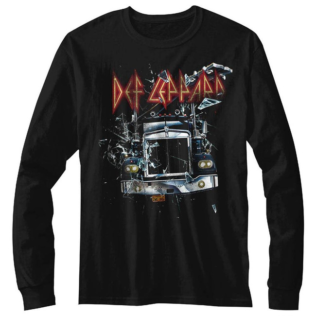 Def Leppard On Through The Glass Black Adult Long Sleeve T-Shirt