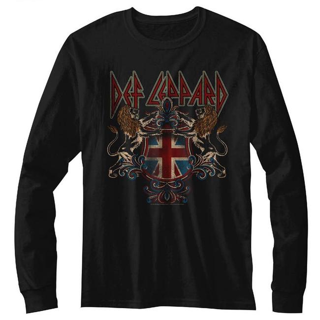 Def Leppard Def Crest Black Adult T-Shirt