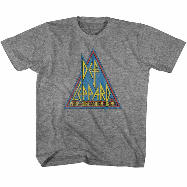 Def Leppard Primary Triangle Heather Children's T-Shirt