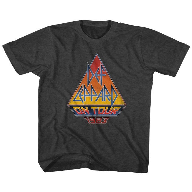 Def Leppard On Tour '83 Black Heather Children's T-Shirt