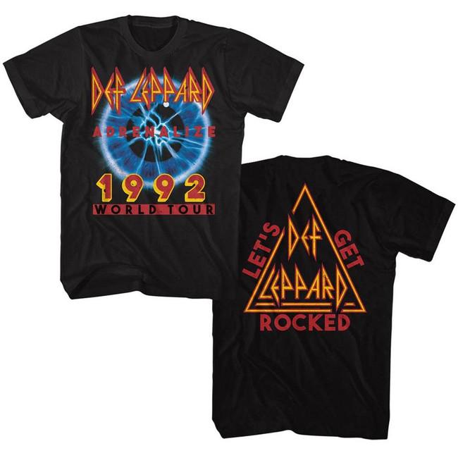 Def Leppard Adrenalize Tour Black Adult T-Shirt