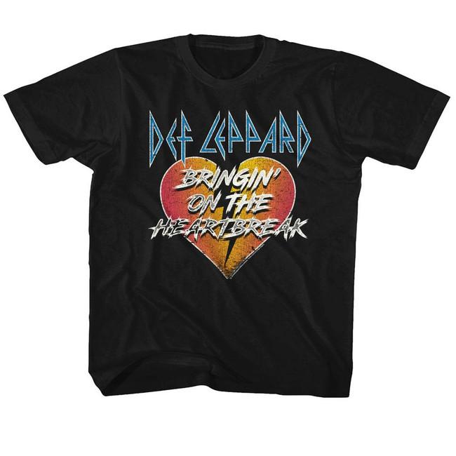 Def Leppard Bringin' On The Heartbreak Black Youth T-Shirt