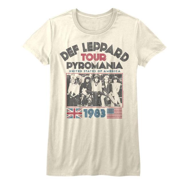Def Leppard Pyromania Tour Natural Junior Women's T-Shirt