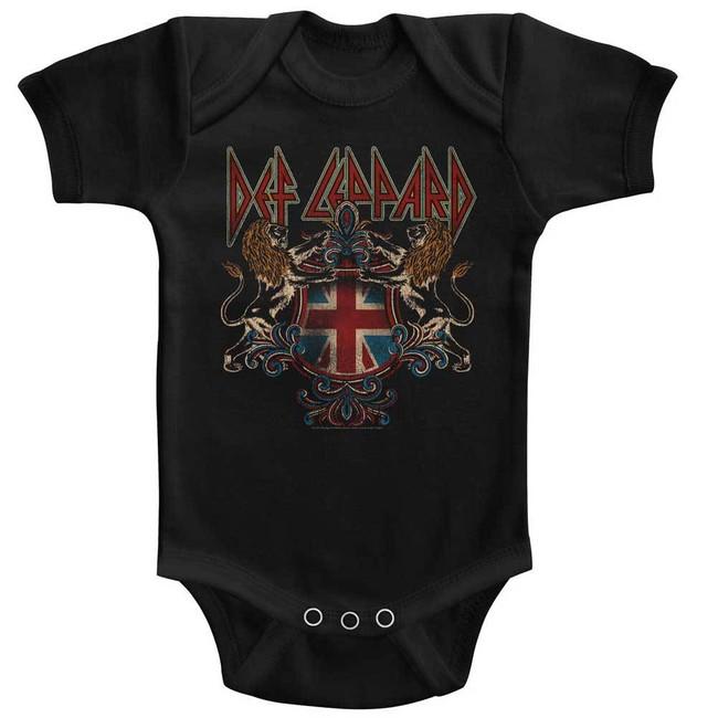 Def Leppard Def Crest Black Baby Onesie T-Shirt