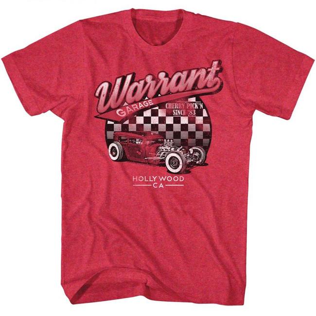 Warrant Garage Cherry Heather Adult T-Shirt