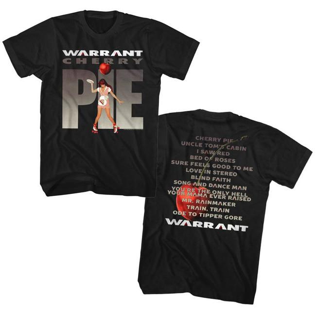 Warrant Cherry Pie Album Black Adult T-Shirt