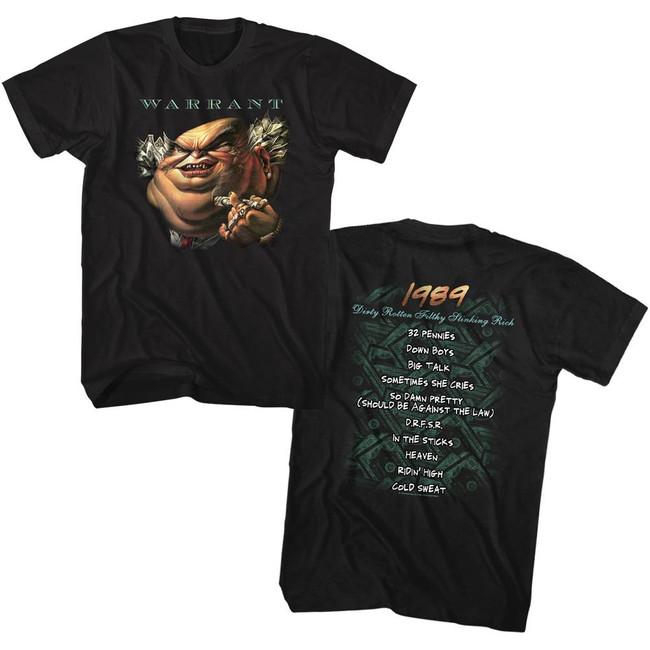 Warrant Drfsr Double Sided Black Adult T-Shirt
