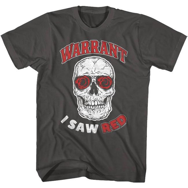 Warrant Saw Red Smoke Adult T-Shirt