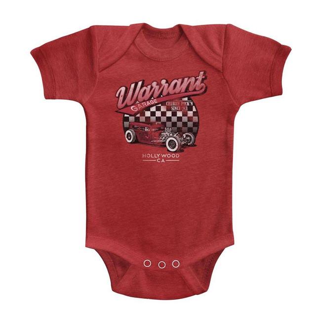 Warrant Garage Vintage Red Infant Heather Baby Onesie