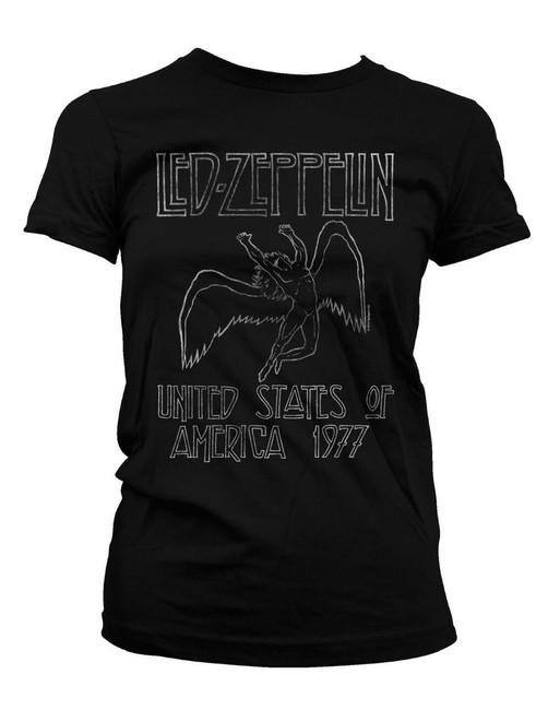 Led Zeppelin USA '77 Junior Women's T-Shirt