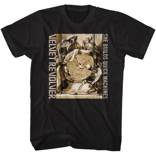 Velvet Revolver Quick Machines Black Adult T-Shirt