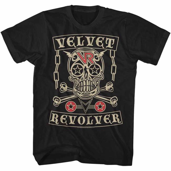 Velvet Revolver Velvet Skull Black Adult T-Shirt