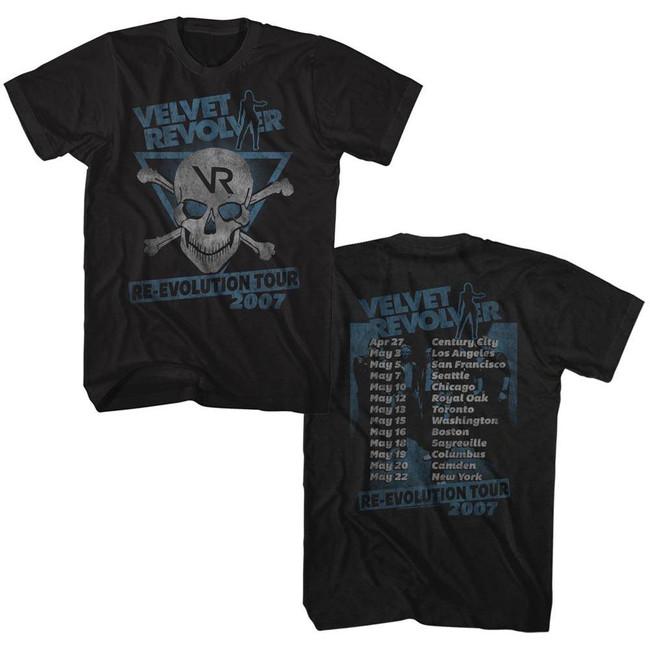Velvet Revolver Re-Evolution Tour 07 Black Adult T-Shirt