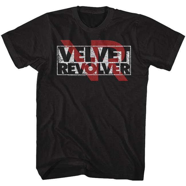 Velvet Revolver Logo Overlay Black Adult T-Shirt