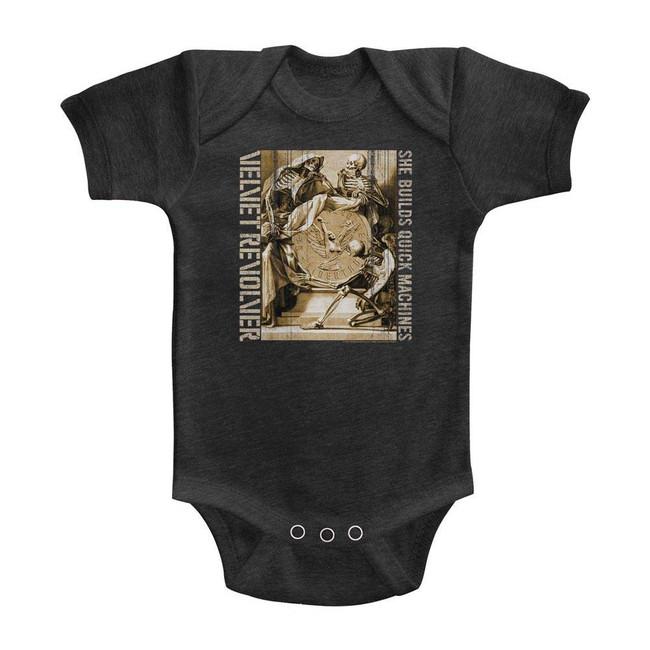 Velvet Revolver Quick Machines Vintage Smoke Infant Baby Onesie