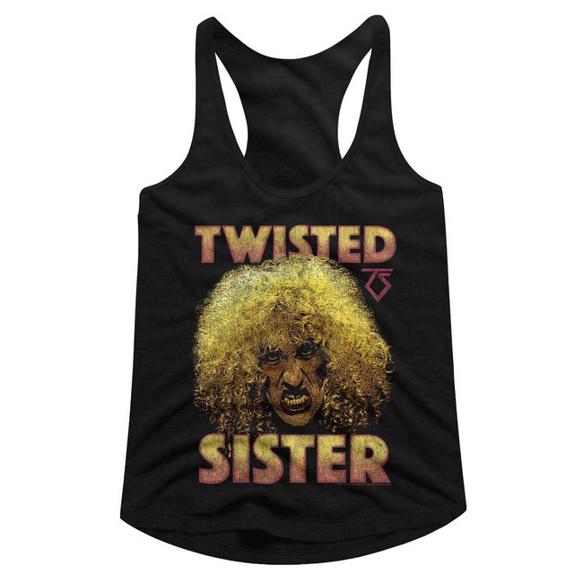 Twisted Sister Dee Black Junior Women's Racerback Tank Top