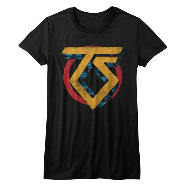 Twisted Sister Vintage TS Logo Black Junior Women's T-Shirt