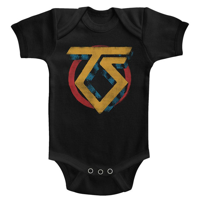Twisted Sister Vintage TS Logo Black Infant Baby Onesie