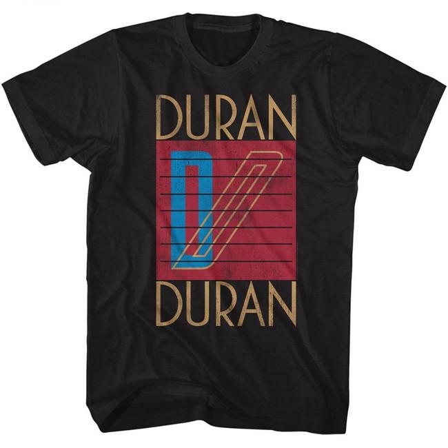Duran Duran Logo Black Adult T-Shirt