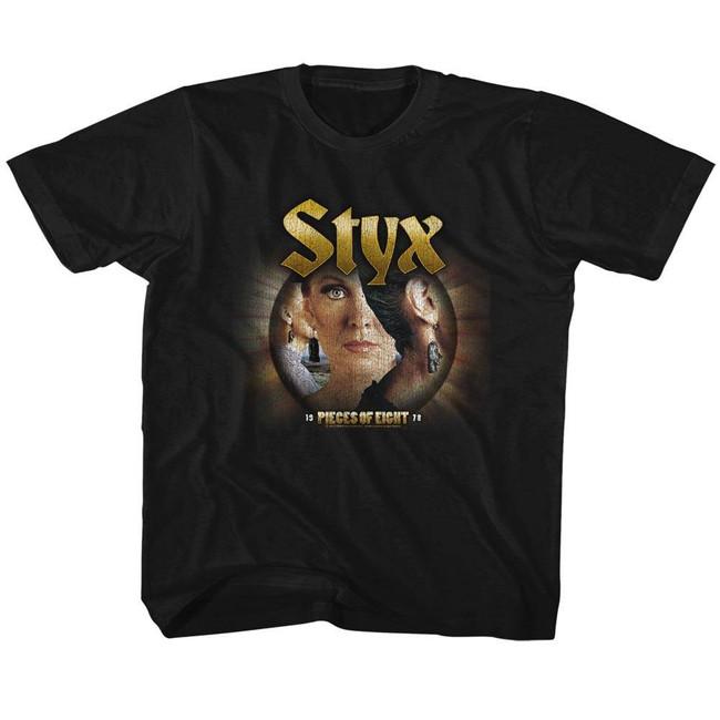 Styx Pieces Of Eight Black Children's T-Shirt