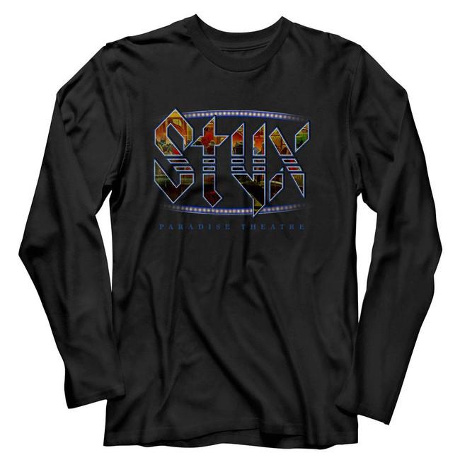 Styx Paradise Theatre Black Adult Long Sleeve T-Shirt
