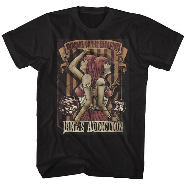 Jane's Addiction Siamese Twins Black Adult T-Shirt