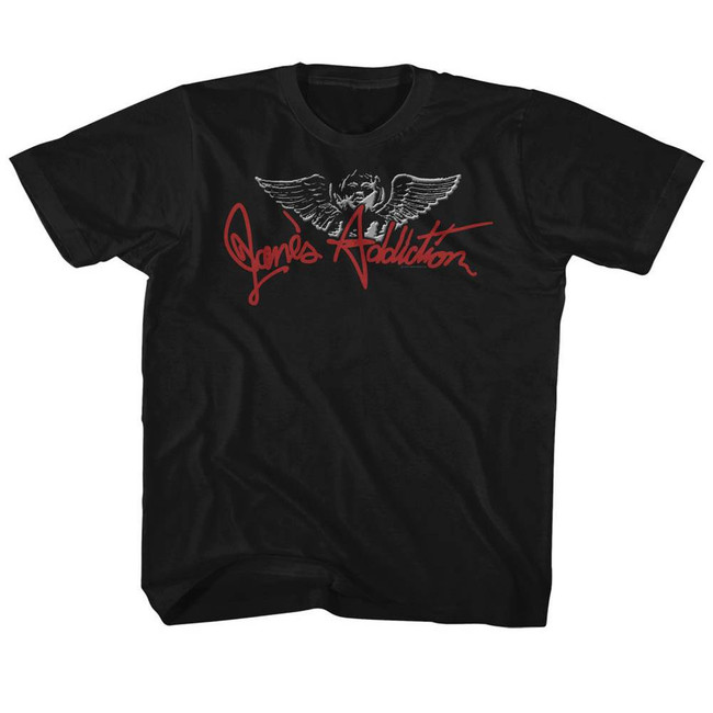 Jane's Addiction Chisel Angel Black Children's T-Shirt