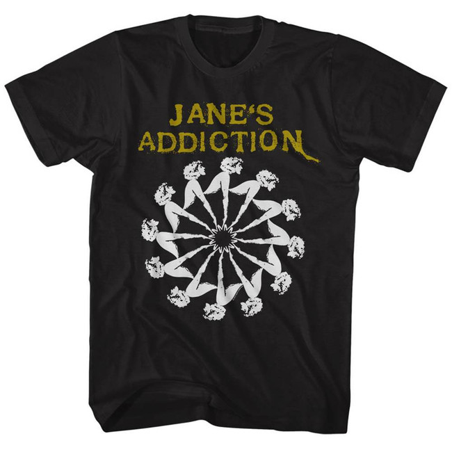 Jane's Addiction Lady Wheel Black Adult T-Shirt