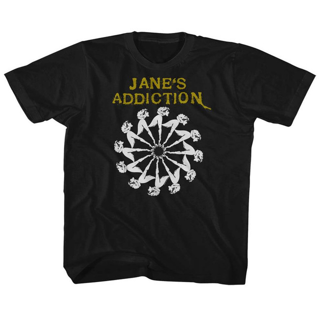 Jane's Addiction Lady Wheel Black Children's T-Shirt