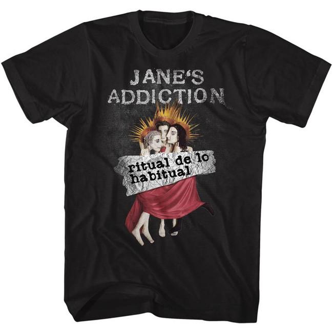Jane's Addiction Ritual De Lo Habitual Black Adult T-Shirt