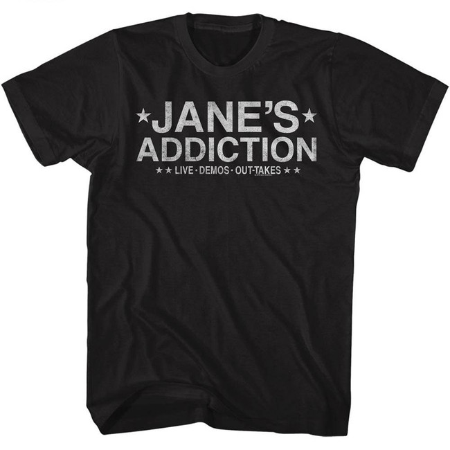 Jane's Addiction Live Demos Out-Takes Black Adult T-Shirt