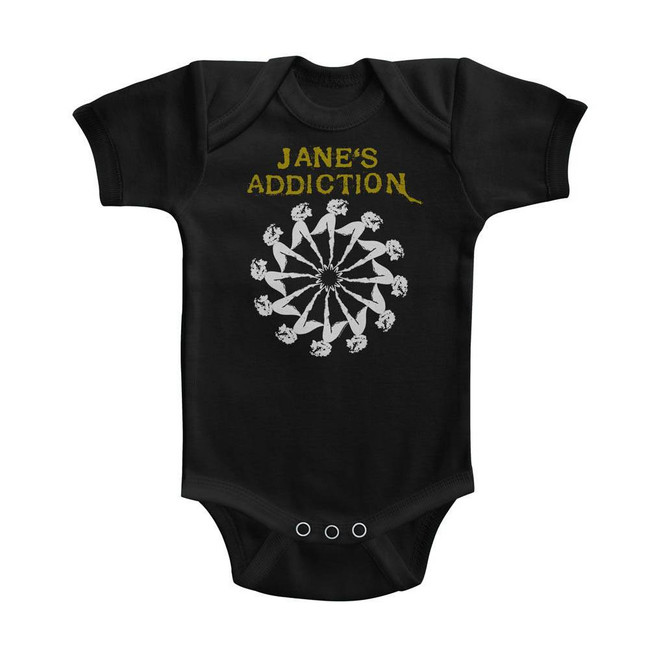 Jane's Addiction Lady Wheel Black Baby Onesie T-Shirt