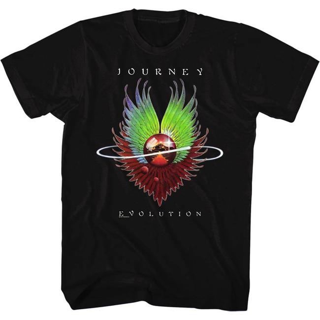 Journey Evolution Black Adult T-Shirt