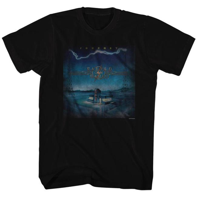 Journey Raised On Radio Black Adult T-Shirt