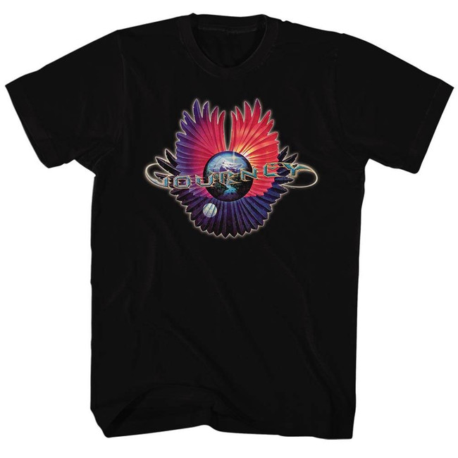 Journey Logo Black Adult T-Shirt