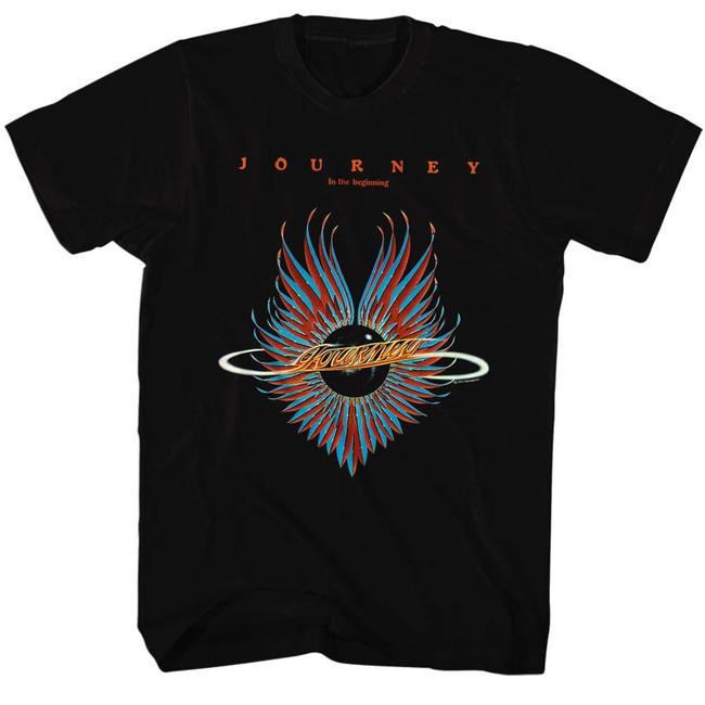 Journey Beginning Black Adult T-Shirt