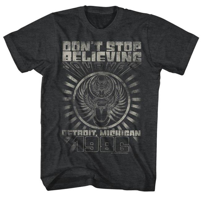 Journey Detroit Black Heather Adult T-Shirt