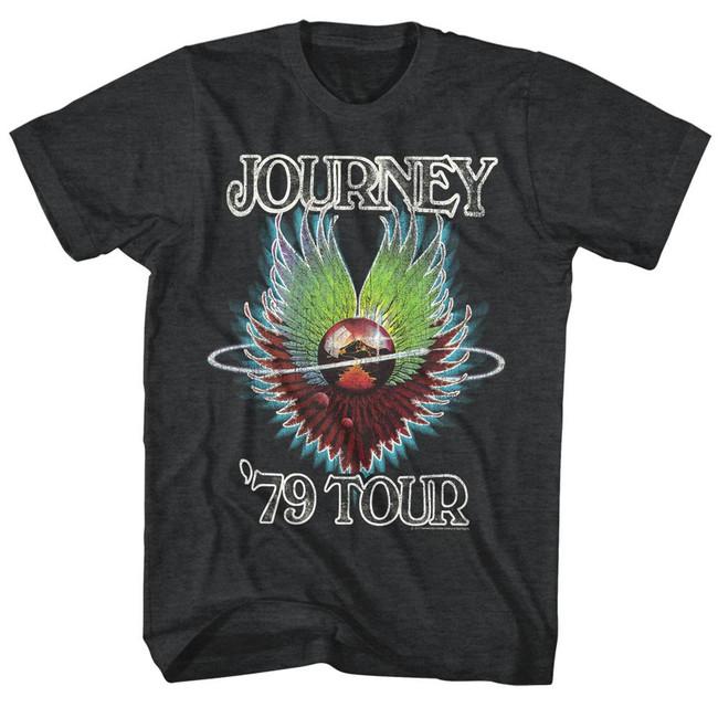 Journey 1979 Black Heather Adult T-Shirt